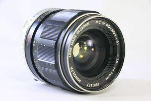 実用★ミノルタ MINOLTA MC W.ROKKOR-SI 28mm F2.5★うすくもり・変色★AD1028