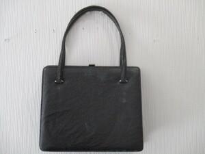 メーカー不明 ハンドバッグ 中古品 ブラック ゆうパック60サイズ 同梱対応可能 1円スタート