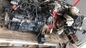 Nissan Diesel engine JO7E turbo intercooler airbrake mission attaching