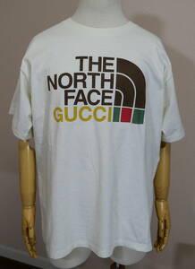 2021SS GUCCI × THE NORTH FACE コラボ スペシャルロゴ 半袖Tシャツ 国内正規品