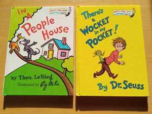英語絵本 ドクタースース There's a WOCKET in my POCKET! Theo.LeSieg IN A People House ハードカバー 洋書 外国語絵本 知育