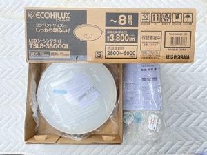 新品 IRIS OHYAMA TSL8-3800QL ~8畳用 ECOHILUX 調光調色 LEDシーリングライト CL-RU2 リモコン付アイリスオーヤマ エコハイルクス 照明