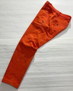 《PEARLY GATES パーリーゲイツ》PG エンブレム刺繍 ストレッチ素材 ゴルフ パンツ オレンジ 5