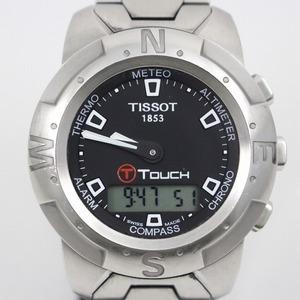 TISSOT ティソ Tタッチ クォーツ メンズ 腕時計 多機能アナデジ 黒文字盤 純正SSベルト Z252/352【いおき質店】