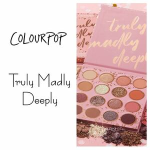 Colourpop eyeshadow palette ★ truly madly deeply カラーポップアイシャドウパレット