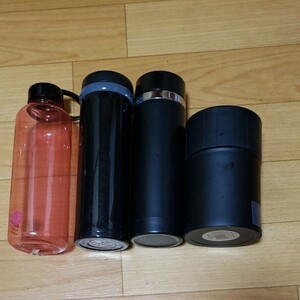 ステンレスボトル 真空 水筒 0.5ml 3個 スープジャー1個