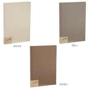 ナカバヤシ シンプラフト ブック式フリーアルバム A4 グレー・ア-SPT-A4B-N(a-1383133)