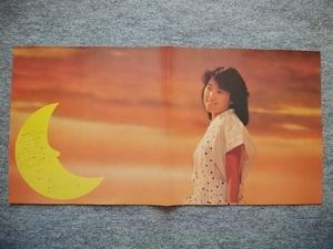 新田恵利 LPレコードの付録ポスター(縦29cm、横58cm)