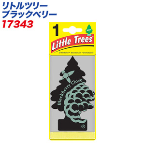 (メール便対応)バドショップ:LittleTrees エアーフレッシュナー 吊り下げ式芳香剤 ブラックベリー 消臭/17343