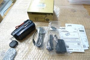 現状品 JVC ビデオカメラ GZ-R470-H 32GB 防水 防塵 ハイビジョンメモリームービー EverioR/エブリオ ケンウッド ビクター アイスグレー