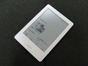 Rakuten Kobo Touch (N905B) E-book Lee da white * liquid crystal scratch some stains equipped *