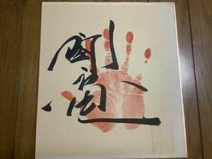 元大相撲力士「闘竜」直筆サイン色紙