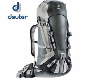 DEUTER グレー×ブラック ガイド45+ 45+10L F ドイター バックパック 45+10 アウトドアリュック リュック