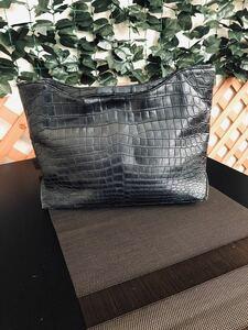 マットクロコダイル セカンドバッグ
