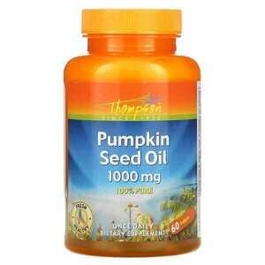 値下 送300~/匿配可 100%ピュア高濃度 パンプキン 種子 オイル 1000mg 60粒 期限長'23/7 カボチャ シード 油 トンプソン Thompson 頻尿
