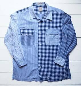 別注 SANCA × BEAMS BOY マルチパターン 開襟シャツ サンカ ビームスボーイ