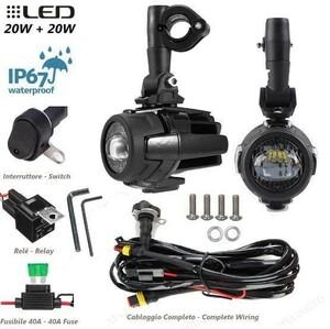 【送料無料】フロント ヘッドライト 40ワット 高輝度 オートバイ LED フォグランプ BMW R1200GS ADV ホンダ ヤマハ スズキ カワサキ