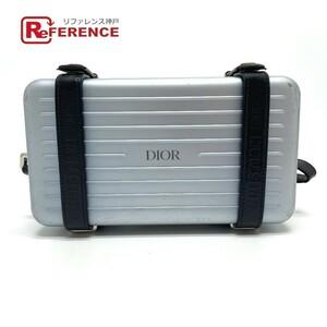 Dior ディオール 2DRCA295YWT リモワコラボ ウォレット パーソナルクラッチバッグ 2WAY トラベルケース アルミニウム メンズ ブルー系