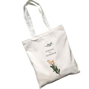 《新品》【Flower Design Totebag】 花柄トートバッグ 帆布 レディース エコバッグ マザーズバッグ 通学