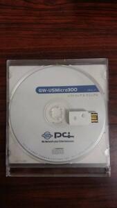 PLANEX 11n/g/b対応 WPSボタン搭載 300Mbpsハイパワー無線LAN USBアダプタ GW-USMicro300