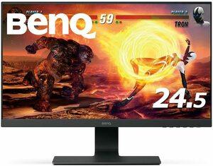 BenQ ゲーミングモニター ディスプレイ GL2580HM 24.5インチ/フルHD/TN/ウルトラスリムベゼル/2ms/ブルーライト軽減 2020/3~保証