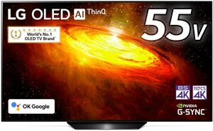 LG 55V型 4Kチューナー内蔵有機ELテレビ OLED55BXPJA 無線LAN/Bluetooth/Dolby Atmos/YouTube/Amazonプライム/Netflix 2021/5から1年保証