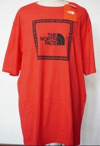THE NORTH  FACE メンズ Tシャツ  XLサイズ テープボックスロゴ ノースフェイスTシャツ