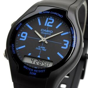送料無料 腕時計 CASIO カシオ 海外モデル AW-90H-2BV チープカシオ デュアルタイム アナログ デジタル ユニセックス