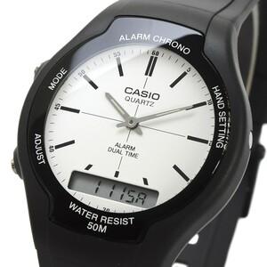 送料無料 腕時計 CASIO カシオ 海外モデル AW-90H-7EV チープカシオ デュアルタイム アナログ デジタル ユニセックス