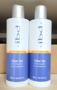 2本 IBD UV クリアジェル 226 g / 8 oz Clear Gel UV 専用