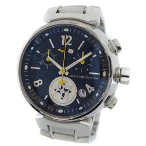 即決 ルイ ヴィトン タンブール ラブリーカップMM ボーイズ 腕時計 レディース クオーツ ブラック文字盤 シルバー Q132G