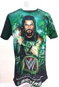 送料込み!【XLサイズ】ローマン・レインズ ロマン Tシャツ バックラッシュ グリーン WWF WWE プロレス