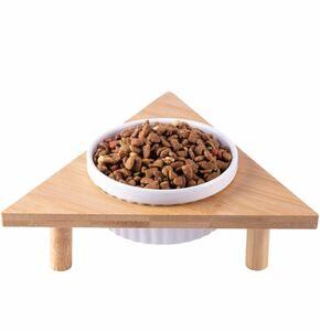 犬 食器 猫 餌 皿 diy三角形陶器食器犬 餌 入れ 可愛い 猫 の ご飯 皿