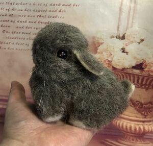 ◆羊毛フェルト ハンドメイド うさぎ ラビット ウサギ チェスナット たれ耳うさぎ ロップイヤー ♪