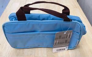 【週末限定値下げ!】ランチポーチ 保冷 保温 軽量 保冷バッグ ミニ ブルー