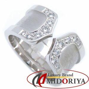 Cartier カルティエ 2C ワイド リング ダイヤモンド K18WG 750 ホワイトゴールド B4044100 #50 10号 指輪/095337【中古】