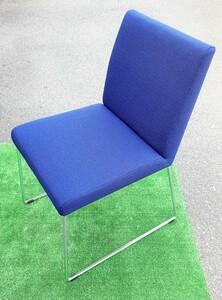 コクヨ★KOKUYO スタッキングチェア ブルー 2018年製 CK-FM2120  椅子 布製 オフィス家具 リモート家具 直接引取り歓迎