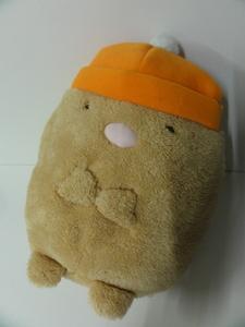 紙タグ付★すみっコぐらし 帽子ぬいぐるみXL とんかつ [全高40cm] サンエックス