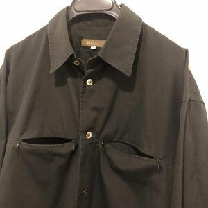 90s old Y's for men 多機能ポケットジッパーシャツ 3 ワイズフォーメン ヨウジヤマモトオム yohji yamamoto pour homme がま口 ジップ