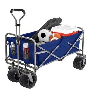 DETAIL キャリーワゴン キャリーカート 折りたたみ 大型タイヤ 耐荷重110kg 大容量110L アウトドアワゴン