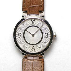 ルイヴィトン LOUIS VUITTON タンブールスリム33 クォーツ Q13MJZ ダイヤモンド レディース 婦人用 女性用 腕時計 研磨仕上げ済み 中古