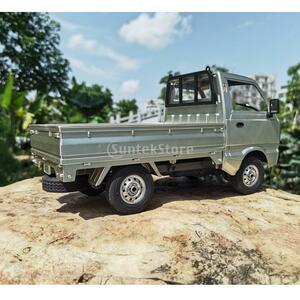 1/10スケール WPL D12 RC軽トラック カーモデル RCおもちゃ 四輪駆動 オフ ホワイト シルバー ラジコン 軽トラ QAZA