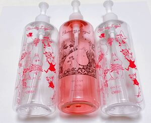 オルビス限定ORBIS MOOMINムーミン空ボトル3本セット オイル クリアボトル 化粧水 乳液 メイク落としなど 非売品レア