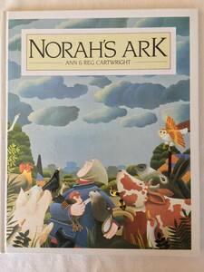 ライオンくんはいばりんぼ作者 洋書絵本【NORAH'S ARK THE★ノラおばさんのはこぶね】英語 カートライト ANN & REG CARTRIGHT