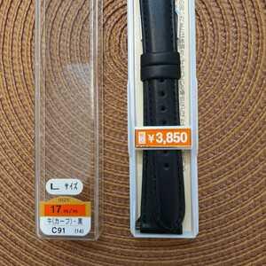 ロング 寸長 17㎜ 17ミリ バンド ベルト 黒 工具付き バネ棒付 Lサイズ ¥3,850