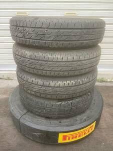 [送料無料]中古タイヤ ブリヂストン ネクストリー 145/80R13 4本セット 2017年製 残溝4.5mm 在庫処分大特価 限定1セット お買い得品
