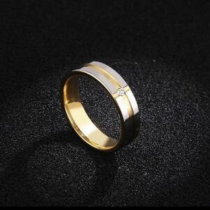 New 21.5 Stainless CZ Diamond Cross Ring Gold Silver Anti-Allergy Unisex 12.5-21.5 Free Shipping