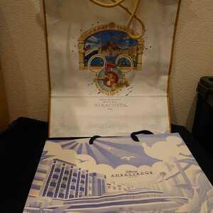 東京ディズニーリゾート ディズニーランド シー ホテルミラコスタ アンバサダーホテル ペーパーバック ディズニー ミッキー 2点 5周年記念