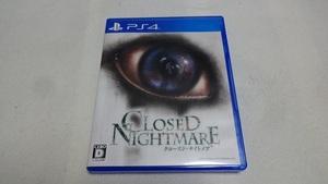 PS4 CLOSED NIGHTMARE(クローズド・ナイトメア)■ジャンル:シネマティックホラーアドベンチャー