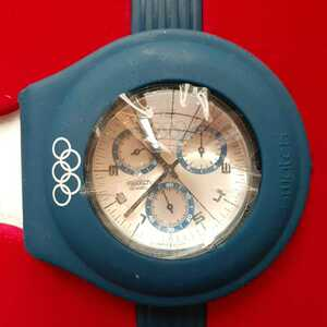 未使用 スウォッチ 2004年モデルオリンピック スペシャルパッケージ Run Time YCS1009
